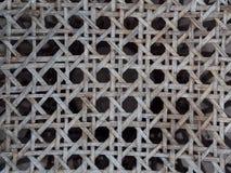 Alte verwitterte Konzeption- des Produktserntenahaufnahme auf Bambusstrukturmuster Stockfotografie
