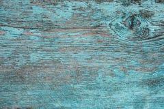 Alte verwitterte Planke gemalt im Blau Lizenzfreies Stockfoto