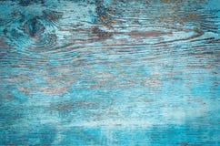 Alte verwitterte Planke gemalt im Blau Lizenzfreie Stockbilder