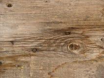 Alte verwitterte und getragene hölzerne Planken Stockfoto