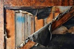 Alte verwitterte und Schalen-Holz-Zusammenfassung Stockfoto