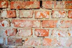 Alte verwitterter Zement des Schmutzes der Backsteinmauer rote Oberfläche Stockbild