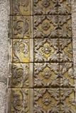 Alte Verzierung der Steinfliese von Portugal Stockbilder
