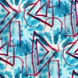 Alte Verzierung des Schmutzes, die USA-Rot, blau zeichnet Stockbilder