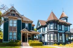 Alte viktorianische Häuser Lizenzfreies Stockfoto