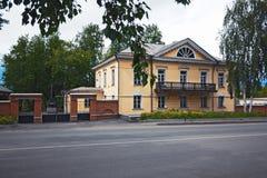 Alte Villa vom des Cherepanovs des 19. Jahrhunderts Haus Stockfotografie