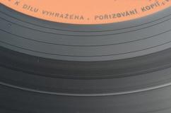 Alte Vinylaufzeichnung mit Retro- Note Stockbild