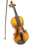 Alte Violine mit Bogen Lizenzfreie Stockfotos