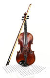 Alte Violine und Anmerkungen Stockfotos