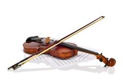 Alte Violine und Anmerkungen Lizenzfreies Stockfoto