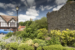 Alte Wände Arundel West-Sussex Lizenzfreie Stockfotografie