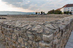 Alte Wände in Buda Castle, Budapest Lizenzfreies Stockbild
