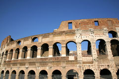 Alte Wände des Kolosseums Stockfotografie