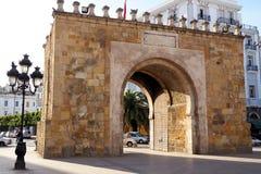 Alte Wände des Marksteins von Tunis, Tunesien stockbild