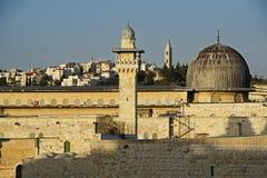 Alte Wände Jerusalems lizenzfreies stockbild