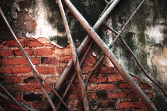 Alte Wände mit Baumwurzeln Lizenzfreies Stockfoto