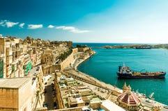 Alte Wände und Straßen von Malta Lizenzfreie Stockfotos