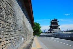 Alte Wände und Yongding Gatter Stockfotos