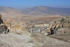 Alte Wände von Hasankeyf und von Fluss Tigris Stockbild