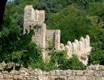 Alte Wände von Monselice in Italien Stockbild