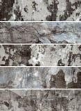 Alte Wand. Ansammlung Fahnen für Web site Stockbild