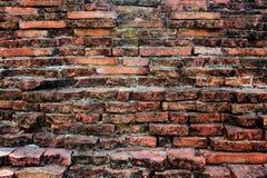 Alte Wand bei Ayutthaya, Thailand Stockfoto