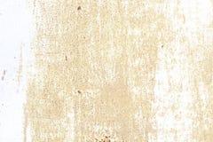 Alte Wand Beschaffenheitsmetalltür es wurde im Weiß gemalt Platzrostschmutz Stockfoto