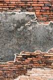 Alte Wand der roten Backsteine Lizenzfreie Stockbilder