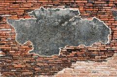 Alte Wand der roten Backsteine Stockbild