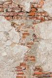Alte Wand der roten Backsteine Lizenzfreies Stockfoto