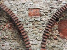 Alte Wand der roten Ziegelsteine Lizenzfreies Stockbild