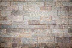 Alte Wand des grauen Ziegelsteines Lizenzfreie Stockfotos