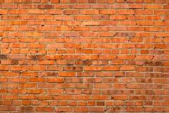 Alte Wand des roten Backsteins Lizenzfreies Stockfoto