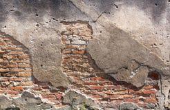 Alte Wand des roten Backsteins. Stockbilder
