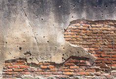 Alte Wand des roten Backsteins. Lizenzfreies Stockfoto