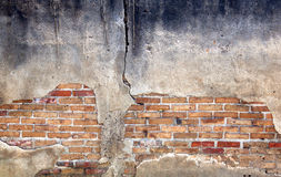 Alte Wand des roten Backsteins. Lizenzfreie Stockfotografie