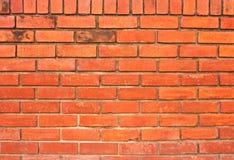 Alte Wand des roten Backsteins Lizenzfreies Stockbild