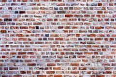 Alte Wand des roten Backsteins 3 Stockbild