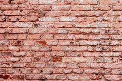 Alte Wand des roten Backsteins der Weinlese Lizenzfreies Stockfoto