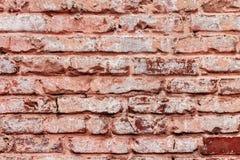 Alte Wand des roten Backsteins der Weinlese Stockbilder