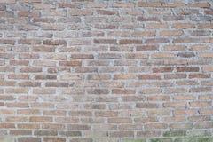 Alte Wand des roten Backsteins, für Hintergrund oder Beschaffenheit Lizenzfreie Stockfotografie