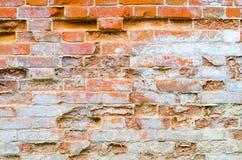 Alte Wand des roten Backsteins - Hintergrund-Beschaffenheit Stockbilder