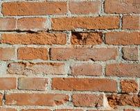 Alte Wand des roten Backsteins mit Mörser Lizenzfreie Stockfotografie