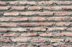 Alte Wand des roten Ziegelsteines Stockbild