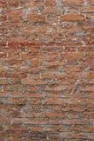 Alte Wand hergestellt von den Ziegelsteinen Lizenzfreies Stockbild