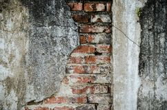 Alte Wand-Hintergrund-Beschaffenheit des Weinlese-roten Backsteins Lizenzfreies Stockfoto
