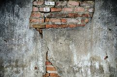 Alte Wand-Hintergrund-Beschaffenheit des Weinlese-roten Backsteins Stockbild