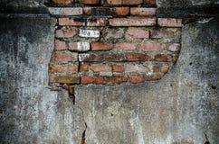 Alte Wand-Hintergrund-Beschaffenheit des Weinlese-roten Backsteins Stockfotos