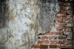 Alte Wand-Hintergrund-Beschaffenheit des Weinlese-roten Backsteins Lizenzfreie Stockfotos