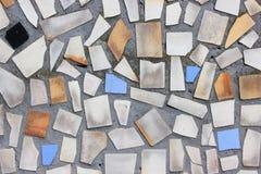Alte Wand mit einem Mosaik Stockfotos